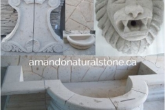 amando natural stone lion fountain water hardscaping garden design custom home renovation Vancouver  Canada